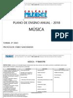 8º Ano Fund. II - Manhã - Plano de Ensino de Música