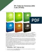 Windows 7 SP1 Todas Las Versiones