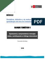 Módulo 1. Comprensión y Expresión Oral PDF