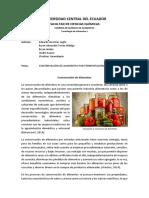 Conservación de alimentos por FERMENTACIÓN