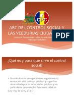 ABC Del Control Social y Las Veedurías Ciudadanas