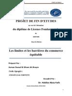 Projet de Fin d'Étude Sur Le Commerce Équitable