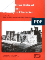 HICKS 1986 - Richard III as Duke of Gloucester