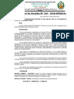 Resolucion de Alcaldia Numero 146- 2018. Designacion