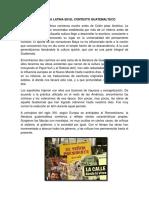 Literatura Latina en El Contexto Guatemalteco