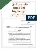 Que Ocurrio Antes Del Big Bang