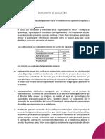 4. Lineamientos de Evaluación