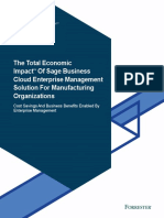 TEI Study Sage Enterprise Management - Manufacturing