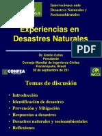 Emilio ExperienciasDesastresNaturales EEUU