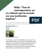 Paula Sibilia - Escuela