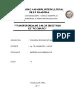 Transferencia de Calor en Estado Estacionario.ing 1