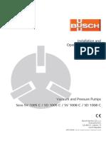 Busch Instruction Manual Seco SV SD 1005-1008 C en 0870135648
