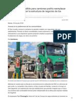 Un nuevo combustible para camiones podría reemplazar al gasoil y modificar la estructura de negocios de los estacioneros.