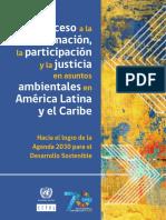 Acceso a la información, la participación y la justicia en asuntos ambientales en América Latina y el Caribe