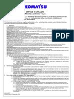 Komatsu - Services Warranty (1)