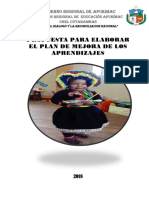 Plan de Mejora Cotabambas 2017 1