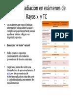Dosis de  radiación en exámenes de  Rayos x.pptx