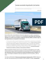 """""""Porosidad"""" en aduanas aumenta importación de tractos usados."""