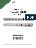 OSA 5210 Telecom GNSS Clock Manual