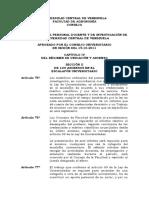 Reglamento Del Personal Docente y de Investigacion de La Universidad Central de Venezuela - Ascensos