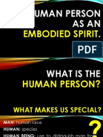 The Human as Embodied Spirit