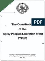 TPLF constitution