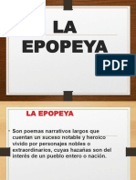 Caracteristicas de La Epopeya