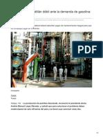 Refinería de Minatitlán débil ante la demanda de gasolina