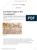 Are There Holes in the Constitution_ - Harvard Law Today