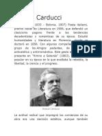 Biografia de Giosue Carducci