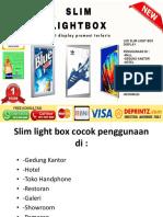 Slim Light Box Jakarta