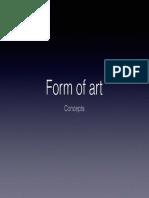 Form of art