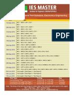 ECE Conventional ESE Schedule 2018