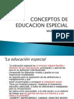 2.-Conceptos de Educacion Especial