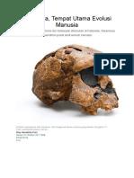 Manusia Indonesia - Manusia Tempat Utama Evolusi Manusia
