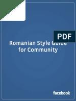 Facebook Romanian Translation Style Guide