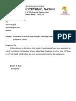 Summer School Fellowship Program_Permission Letter