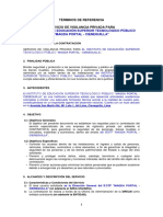 Terminos de Referencia INSTITUTO MP-C
