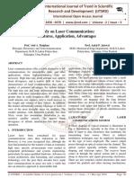 Study on Laser Communication