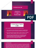 01 Construction Law - Introduction to Construction Law and Alternative Dispute Resolution