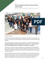 Volkswagen de México imparte curso de verano técnico para jóvenes de casas hogar.
