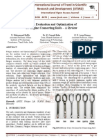 "Design Evaluation and Optimization of IC Engine Connecting Rods '"" A Review"