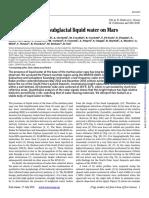 Evidencias a partir de monitoreo con radar al planeta rojo - Revista Science
