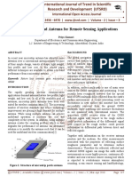 Review on Tri Band Antenna for Remote Sensing Applications