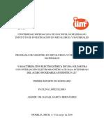 Caracterización Electroquímica de Una Soldadura Con Interaccion Electromagnetica de Baja Intensidad Del Acero Inoxidable Austenítico 321
