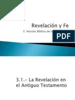 3.- Noción Bíblica de La Revelación