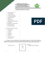 Formulir Pendaftaran SBH