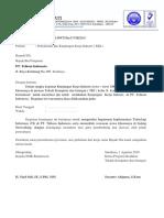 Contoh Surat Permohonan Kunjungan Ke Perusahaan