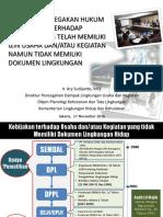 SE NOV 2016-Edited Kebijakan KLH Untuk Usaha Tidak Memiliki Dok LH