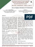 Impact of Job Satisfaction on Employee Retention of IT Professionals